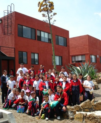 El Instituto Harvard terminando su visita al Ecojardín-UNAM.