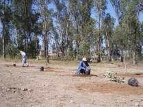 Preparando el terreno para los árboles. (Foto: Juan Martínez Cruz)
